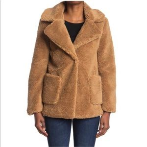 Sebby Teddy Faux Shearling Jacket Size Small